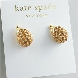 Kate Spade Gold Into The Woods Hedgehog Earrings